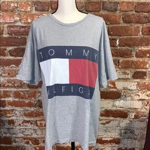 Naturally distressed Tommy Hilfiger Tee VTG LG